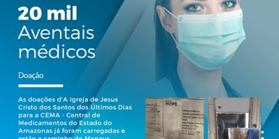 Doação de mascaras e aventais para Manaus